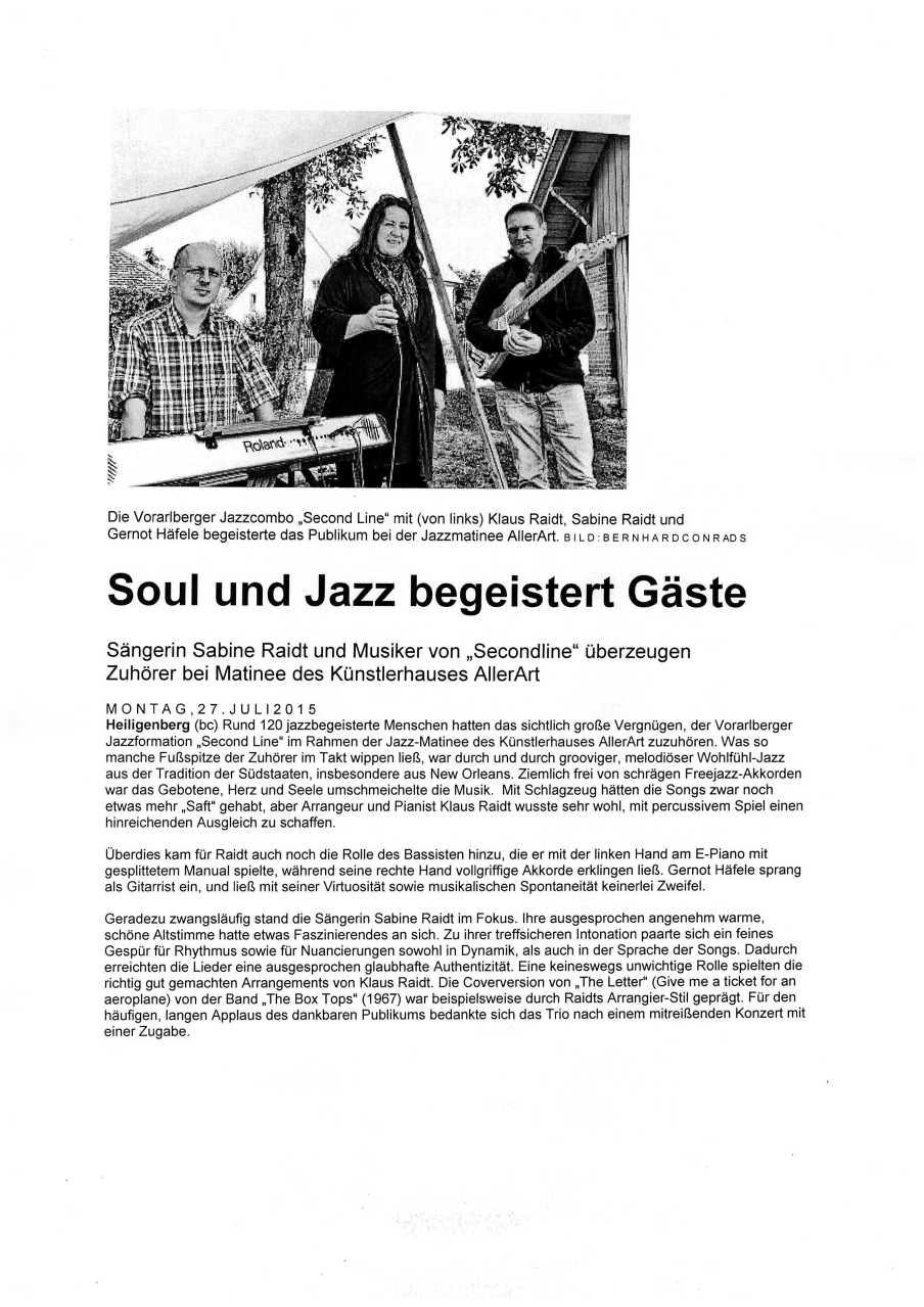Pressekritik Heiligenberg 27.7.15